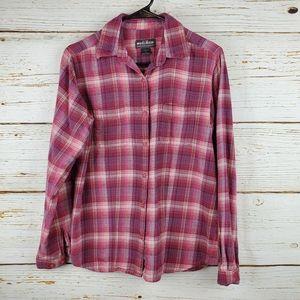 Woolrich Pink Plaid Flannel Button Down Shirt